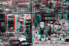 New York, New York (DDDavid Hazan) Tags: ny newyork newyorkcity nyc manhattan 42ndstreet streetphotography shop window giftshop trump teddybear anaglyph 3d bw blackandwhite bwanaglyph 3danglyph 3dstereophotography redcyan redcyan3d stereophotography stereo3d