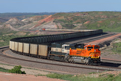 Snaking into Converse (Moffat Road) Tags: bnsf coaltrain emd sd70ace scurve converse wyoming powderriverbasin conversejunction train railroad locomotive wy