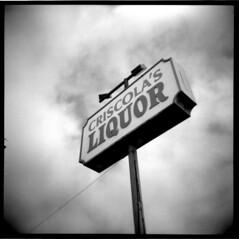 San Diego - 2016 (Andrew Bartram (WarboysSnapper)) Tags: film square 6x6 sign liquor holga toycamera holga120fn ilfordphoto hp5 id1111 plasticlens rollfilm sandiego usaroadtrip believeinfilm