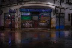 The wet bookstore (karinavera) Tags: travel sonya7r2 night urban street store rain argentina corner buenosaires once balvanera librería city