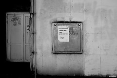 Rue Monseigneur Marcel (4) (vruelico) Tags: art artwork architecture photo photographie photography picture tours touraine town street wall paper tag view black white trump vruelico