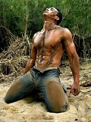 (bernieboy1) Tags: jeans dirty muddy abs muscle men sexy hot