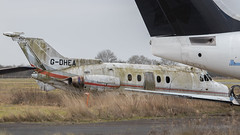 Hanging on in there (Al Henderson) Tags: 125 srs3 airport aviation hs125 cranfield bae bedfordshire firesection gdhea egtc firetraining england unitedkingdom gb