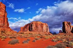 Monument Valley (Albert Jafar) Tags: monumentvalley sandstoneredrocks navajoindianreservation indianland arizona utah bluesky outdoor buttes worldtrekker fantasticnature photographerswharf ngc