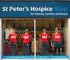 4 Sale (Geoff_B) Tags: bristol southmead january2017 stpetershospiceshop window sale red blue