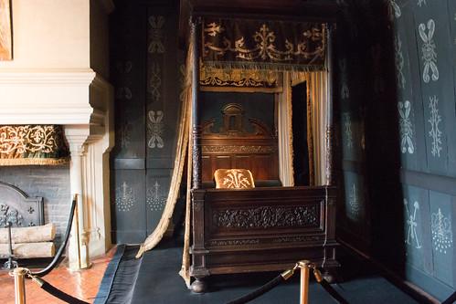 La chambre de Louise de Lorraine au Château de Chenonceau