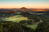Beginning of the day (Jacek Pelczar) Tags: sunrise hills landscape morning goldenhour outdoor forest summer beautiful earth czechswitzerland bohemianswitzerland