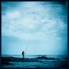 Do what you love and love what you do ... (bert.raaphorst) Tags: canons95 southwestalentejo fishingforclouds costavincentina portugal alentejo algarve fishing sea bleutoning lightroomcc atlanticocean allrightsreserved seascape bertraaphorst adobelightroom copyright land praiadocastelejo praia beach ocean