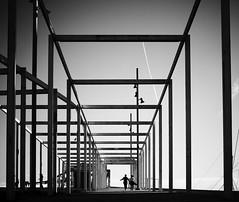 Framed (elgunto) Tags: frame squares urban landscape people barcelona forum blackwhite bw sonya7 planar zeiss50mm17 cy