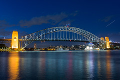 Sydney, Australia - Sydney Harbour Bridge (GlobeTrotter 2000) Tags: sydney harbour bridge harbor cbd nsw new south wales cityscape blue hour australia visit travel tourism