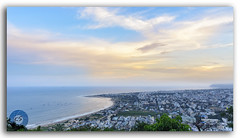 Panoramic View of Vizag City and the Beach from Kailasagiri Hill (KS Photography!) Tags: panorama panoramic pano kailasagiri hilltop park hill beach forest city height landmark shiva parvati statue travel tourist destination landscape historic metropolis nature outdoors scenics tourism temple religion hindu vacation scene sunset sunrise suburbs sea ocean bayofbengal horizontal nopeople coastline mountain sun clouds cloudscape horizon visakhapatnam vizag andhrapradesh india
