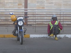 Waiting for customers (prondis_in_kenya) Tags: kenya nairobi hotdryseason bodaboda rider taxi motorcycle motorbike wait