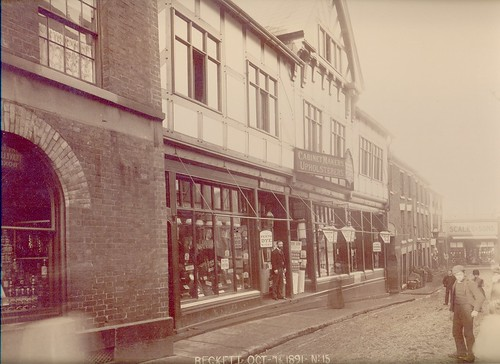 William Beckett, drapers, silk mercers, tailors, wool merchants, milliners, hosiers & undertakers, 31-33 High Street – 1891