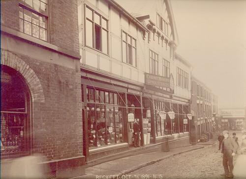 William Beckett, drapers, silk mercers, tailors, wool merchants, milliners, hosiers & undertakers, 31-33 High Street – 1891
