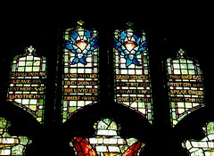 Holiday Window, Chelmsford (Aidan McRae Thomson) Tags: chelmsford cathedral church essex stainedglass window preraphaelite henryholiday