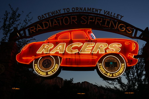 "Radiator Springs Racers Sign • <a style=""font-size:0.8em;"" href=""http://www.flickr.com/photos/28558260@N04/20501889920/"" target=""_blank"">View on Flickr</a>"
