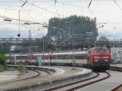 218 423 departs Lindau, 23/8/15, EC193 Zurich-Munchen (Alister45) Tags: germany lindau lok db218 class218