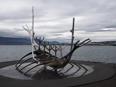 The sun voyager! Its a sculptur made by Jon Gunnar Arnason.