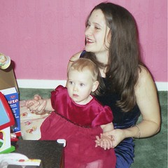 Lisa & Becca - Christmas 2000 (TempusVolat) Tags: christmas xmas family pink woman baby playing hot cute girl beautiful beauty wall neck geotagged toys scans friend pretty 2000 dress mr scanner mother lisa spouse curvy velvet scan mum attractive scanned beautifulwoman wife epson brunette lovely scanning elegant gw gareth partner goodlooking motherandchild maternal perfection mywife tempus shapely demure v200 farge verypretty morodo beautifulwife verybeautiful prettywife photoscanner epsonperfection volat garethw mrmorodo garethwonfor lisafarge tempusvolat lisawonfor