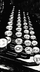 "The Original ""Qwerty"" Keyboard (karmenbizet73) Tags: original blackandwhite art typewriter photography keyboard flickr worldwarii qwerty rustyandcrusty photooftheday eyespy underwood almostforgotten 227365 photodevelopment 2015365photos"