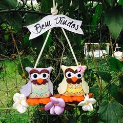 Guirlanda de Corujas (Pina & Ju) Tags: flor artesanato fuxico coruja feltro patchwork
