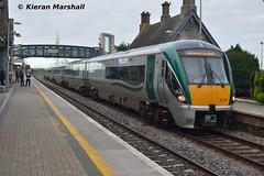 22031 arrives at Portlaoise, 17/9/15 (hurricanemk1c) Tags: irish train rail railway trains railways irishrail rok rotem portlaoise 2015 22031 icr iarnród 22000 éireann iarnródéireann premierclass 5pce 0740limerickheuston