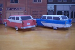 papercraft Ford and Plymouth wagons (official inspection station) Tags: ford chevrolet plymouth pontiac 1956 papercraft 1955chevrolet stationwagons papertoy papercar 1956ford 1956plymouth 1955pontiac plymouth1955chevrolet papercraftstationwagons papercarstationwagons