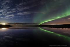 Moonset at Seltjörn (Kjartan Guðmundur) Tags: nightphotography sky stars iceland pond nightscape ngc arctic moonlight nocturne ísland northernlights auroraborealis norðurljós