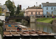 Punts on the River Cam, (Beth Hartle Photographs2013) Tags: cambridge river lock cam weir rivercam boathouses narrowboats