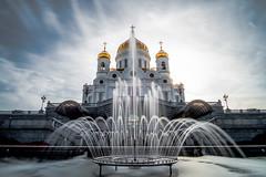 Christ The Savior Cathedral (Dmitry_Pimenov) Tags: city longexposure sky urban church fountain beautiful architecture russia moscow awesome fujifilmxt1 samyang12mm dmitrypimenov dipimenov