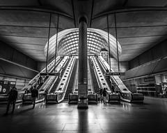Canary Wharf station (Steve J Cottis) Tags: london stairs docklands escalators canarywharf dlr tokina1116mm28 nikond5300