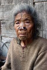 Tage Manu (Farhiz) Tags: tribe traditon facetattoo arunachalpradesh ziro apatani noseplugs