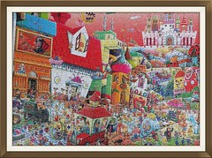 FUNNY BUSINESS (pattakins) Tags: colorful puzzle jigsawpuzzle chaotic 750 ceaco shinjiyamamoto