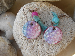 DSCN3295 (katerina66) Tags: texture handmade silk jewellery polymerclay earrings polymer