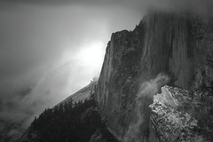 Let There Be Light: Yosemite National Park (Life_After_Death - Shannon Day) Tags: life california park blackandwhite bw cloud white mountain black mountains art history texture nature monochrome rock clouds contrast canon wonder landscape outdoors photography eos death mono blackwhite nationalpark day natural outdoor nevada sierra shannon chrome national yosemite dome half granite halfdome historical after yosemitenationalpark dslr canondslr canoneos base ttt lifeafterdeath 50d shannonday canoneos50d eosdslr canoneos50ddslr lifeafterdeathstudios lifeafterdeathphotography shannondayphotography shannondaylifeafterdeath lifeafterdeathstudiosartandphotography shannondayartandphotography