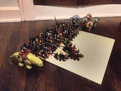 Lego LOTR The Orc Horde (ranger3181) Tags: men army lego earth helmet lord medieval collection lotr rings capes knights fantasy armor sword axe soldiers shield minifigs middle custom universe hai hobbit epic horde tolkien orc trolls elves wraith goblins wizards sauron mordor orcs minifigures uruk rohirrim brickarms brickforge skyrim brickwarriors