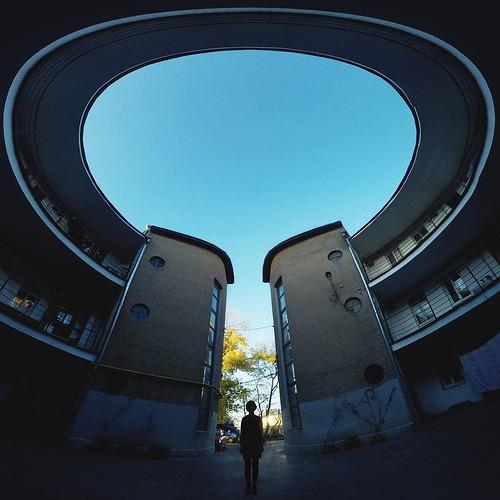 Но это ещё не все. С лёгким движением руки круглый дом превращается... круглый дом превращается... превращается круглый дом... в элегантный овальный  #таганрог