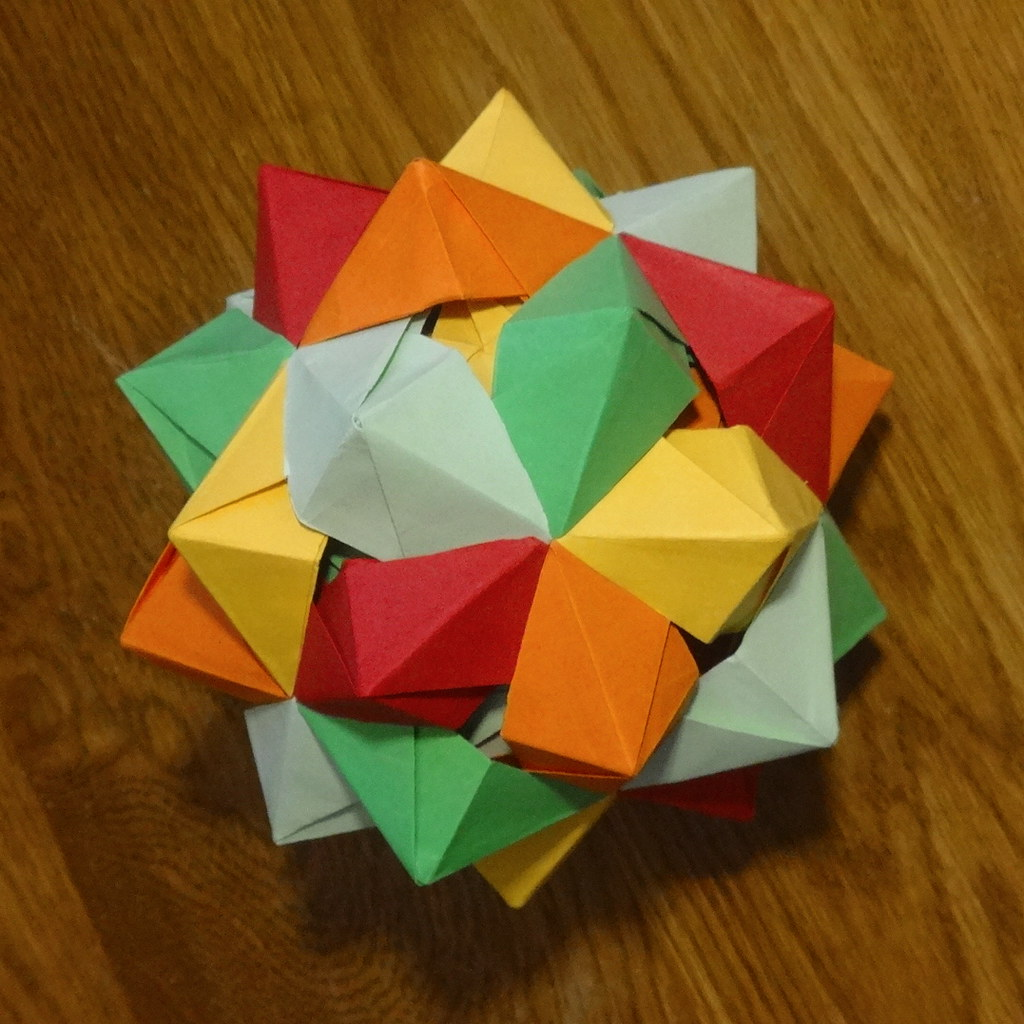 The worlds newest photos of icosahedron and polyhedron flickr five octahedra by daniel kwan anetaa tags origami icosahedron polyhedron polyhedra modularorigami stellation jeuxipadfo Gallery