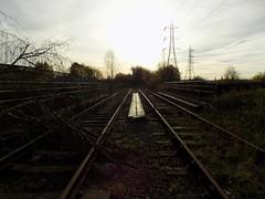 Breaking The Law! (Jason_Hood) Tags: disused abandoned railway railroad southstaffordshireline southstaffordshirerailway pylon pylons hightensiontower electricitypylon transmissiontower