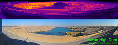 Aswan High Dam thermal and visible panorama (Ultrapurple) Tags: hot cold scale grey weird cool warm experimental transformer dam invisible egypt warmth experiment science pylon heat electricity infrared 8bit temperature aswan thermal nubia turbine android nightvision lowres scientific falsecolor falsecolour imager thermalimage highdam aswanhighdam weirdscience thermalcamera hydroelectricity thermogram thermograph thermographic thermalimager lwir uncooled thermapp microbolometer