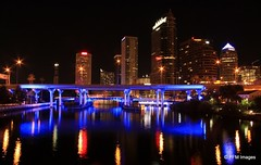 Tampa Skyline (pandt) Tags: street city bridge blue color reflection water colors beauty skyline architecture night skyscraper canon river tampa landscape eos rebel evening photo perfect long exposure flickr cityscape waterfront nightscape tampabay florida outdoor explore reflect nighttime riverwalk platt waterscape 500d mostbeautifulpictures t1i niceasitgets