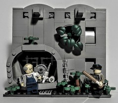 LEGO Vault Breach (wesleyobryan) Tags: city overgrown lego guard vault safe robbery locked vignette apocalego