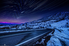 the-way-to-sky-rift (Mahmood Alsawaf) Tags: nightphotography pink blue sunset sky snow mountains nature night canon way stars photography landscapes nightscape fineart iraq sigma 1020 rood العراق غروب rift النجوم تصوير سماء محمود ارض طريق 650d نجوم startrials totalphoto ازرق ليلي دهوك الصواف شق startrial مسارات سرسنك mahmoodalsawaf