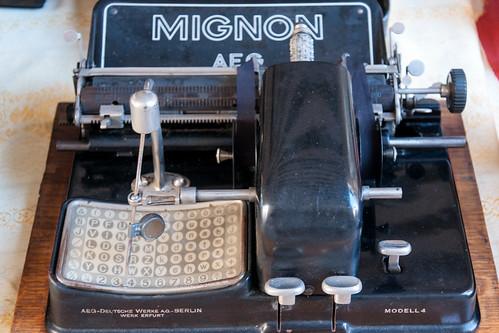Mignon AEG index typewriter