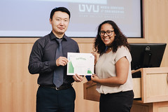Munhbat Batmunkh, presents FAO-UN Certificate of appreciation to Tenika Ray, member of the student organizing committee (UIMF, Utah Valley University) Tags: internationalmountainday imd uvu uimf mps mountainpartnership unitednations un sdgs sustainabledevelopment