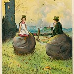 Jugend garten laube 1905  kleurenlitho d