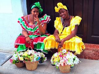 Cuban flowers Cuban ladies
