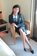 Office uniform 1511_3_02 (akichan980) Tags: crossdressing crossdresser 女装 officelady businesswoman ol ol 事務員 uniform 制服 事務服 japanese