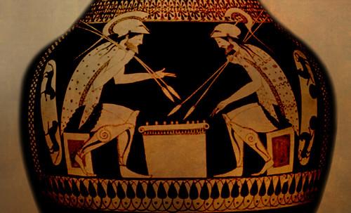 "Petteia - Ludus Latrunculorum  / Iconografía de las civilizaciones helenolatinas • <a style=""font-size:0.8em;"" href=""http://www.flickr.com/photos/30735181@N00/31710156813/"" target=""_blank"">View on Flickr</a>"