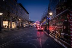 Lueurs d'hiver / Winter Lights (Gilderic Photography) Tags: liege street christmas lights belgium belgique belgie wheel cars canon g7x gilderic city